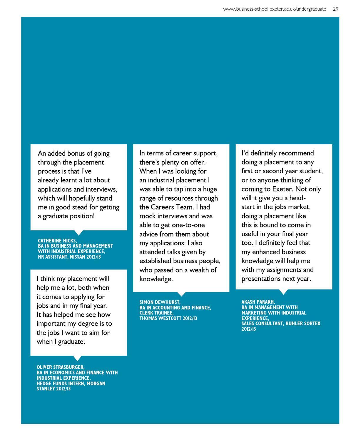Business School UG Prospectus 2014 by University of Exeter - issuu
