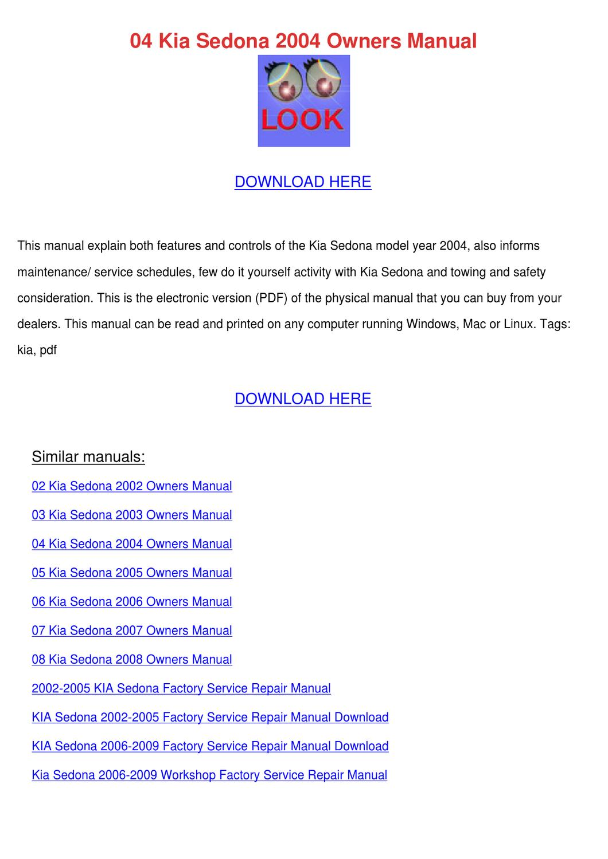 2003 Kia Sedona Repair Manual Pdf 2005 Amanti Electrical Troubleshooting Original Awesome