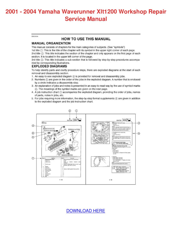2001 2004 Yamaha Waverunner Xlt1200 Workshop by Elinore