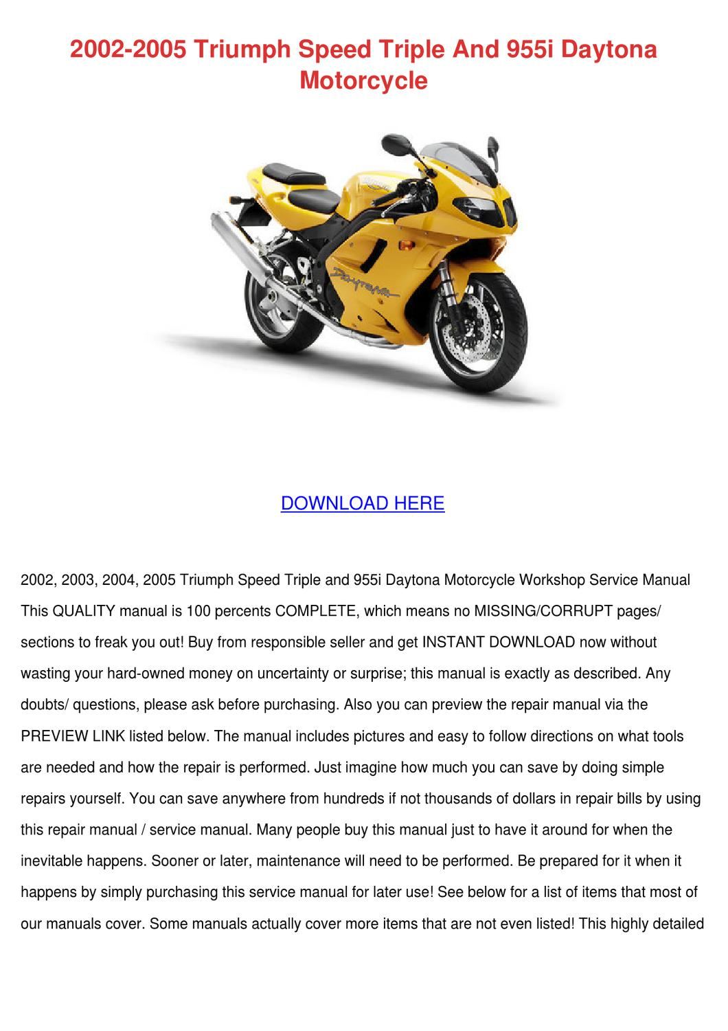 2002 2005 triumph speed triple and 955i dayto by elinore