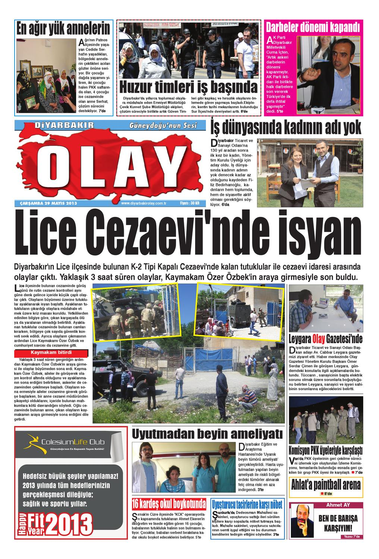 29 05 2013 Gazete Sayfalari By Diyarbakir Olaygazetesi Issuu