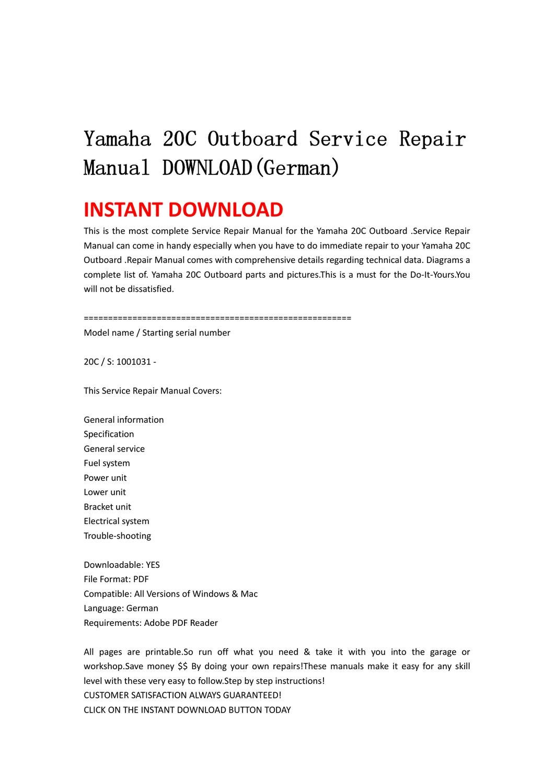 yamaha outboard service manual pdf download