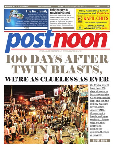 Postnoon E-Paper for May 29th 2013 by Scribble Media