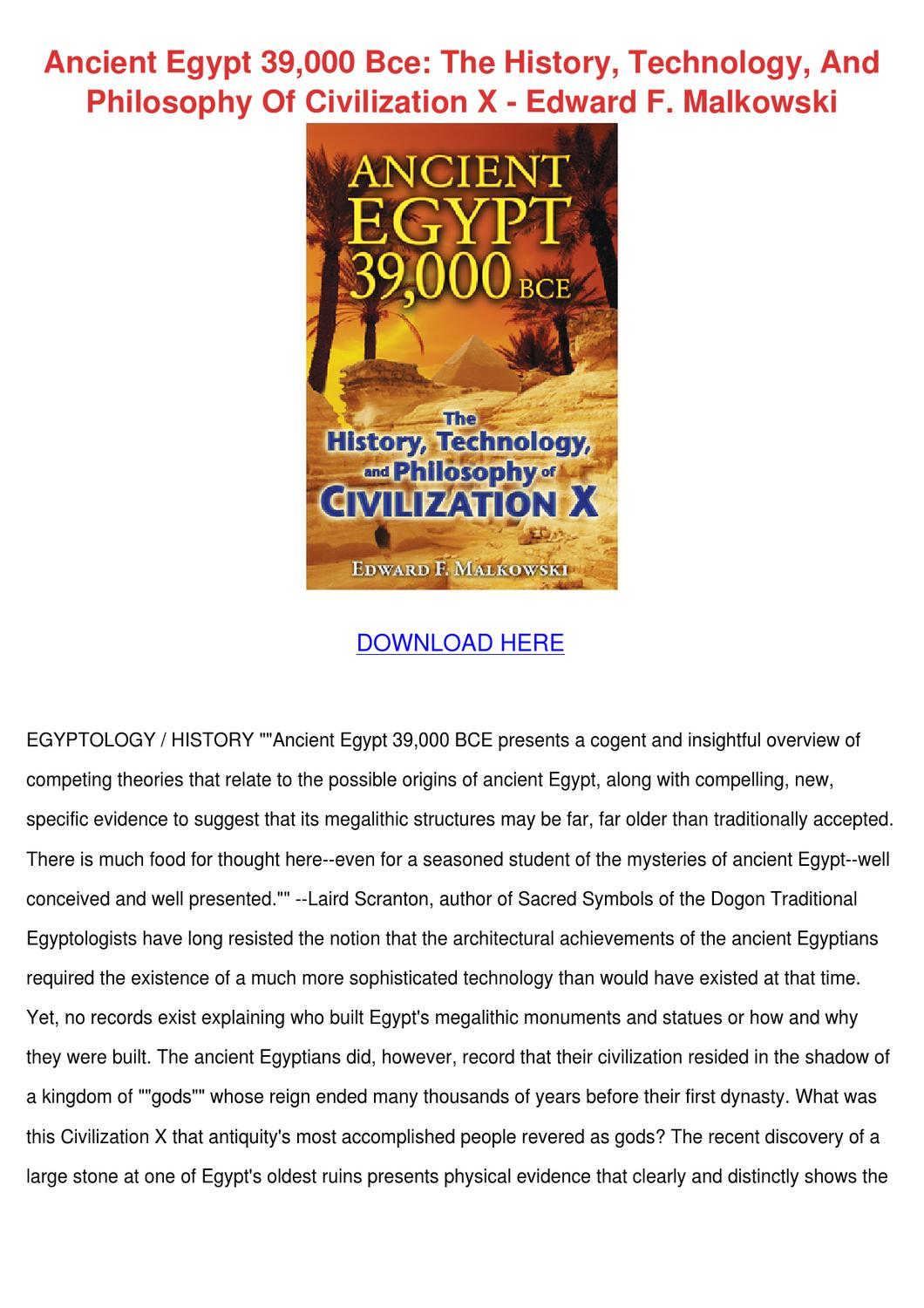 Ancient Egypt 39000 Bce The History Technolog By Josefina Hotalen