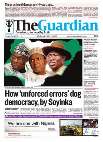 Wed 29 May 2013 The Guardian Nigeria by The Guardian