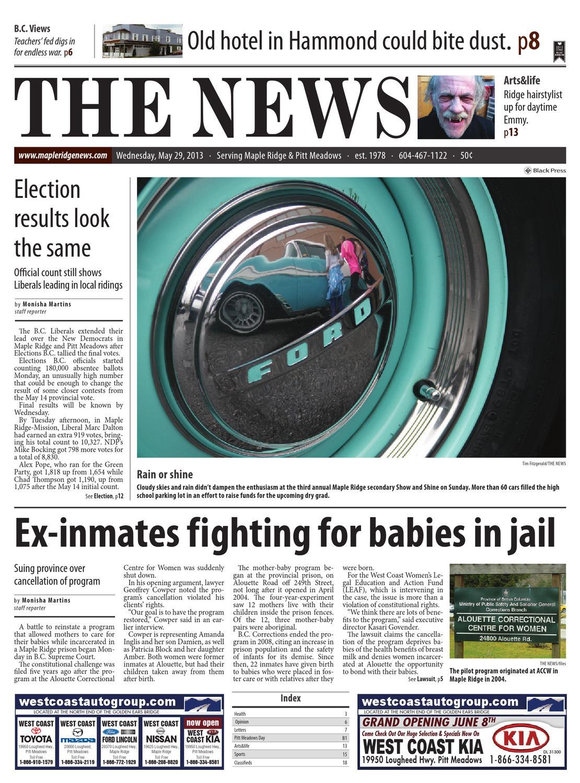 Maple Ridge News May 29 2013