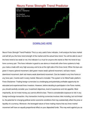 Neuro forex strength trend predictor indicator