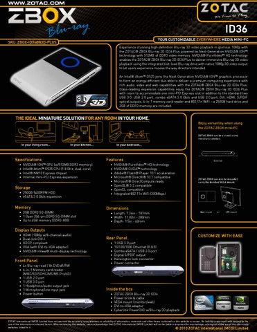 Zotac ZBOX Blu-ray 3D ID36 PLUS Driver (2019)