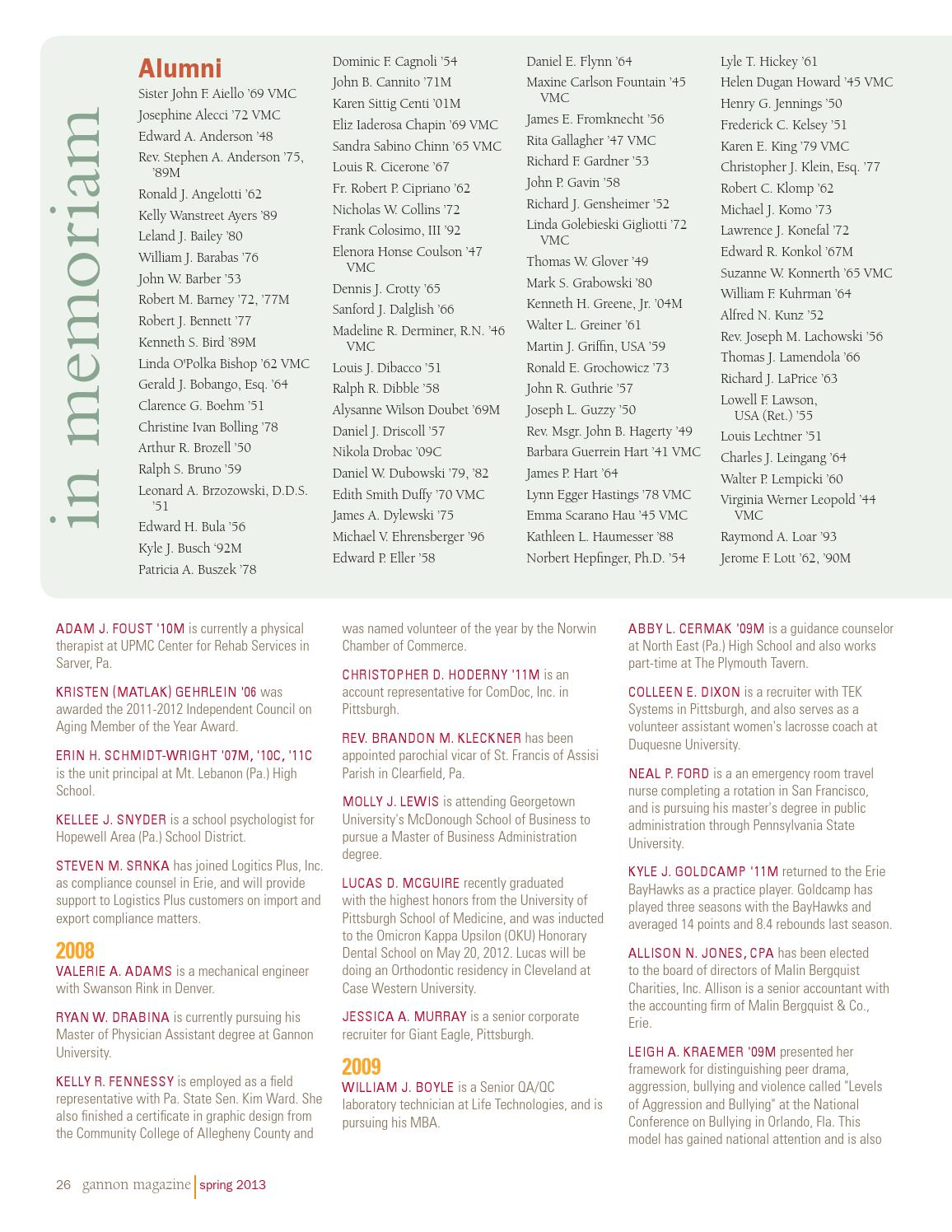 Gannon Magazine Spring 2013 by Gannon University - issuu