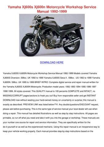 yamaha xj600s xj600n motorcycle workshop serv by meghan capehart issuu