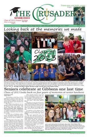 The Crusader Senior Issue May 2013 By Cardinal Gibbons High