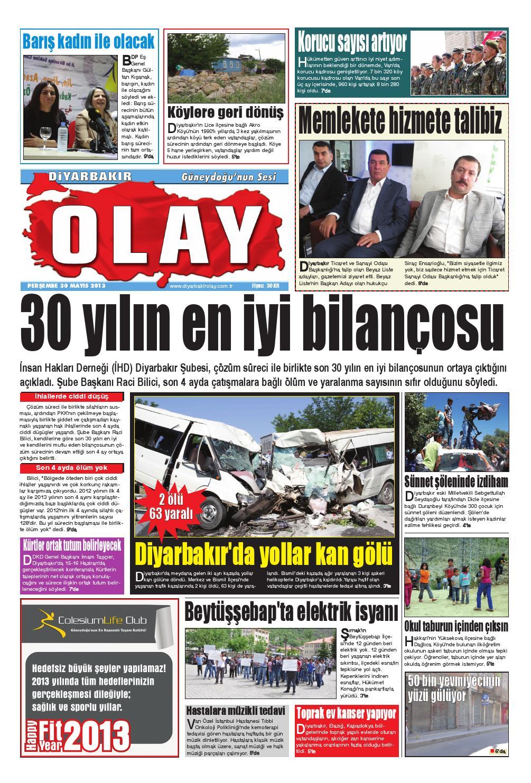 30 05 2013 Gazete Sayfalari By Diyarbakir Olaygazetesi Issuu