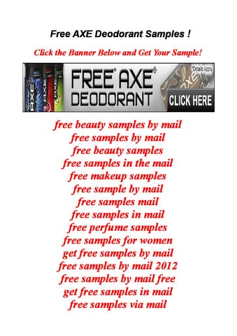 Free Axe Deodorant Samples By Freedownload  Issuu