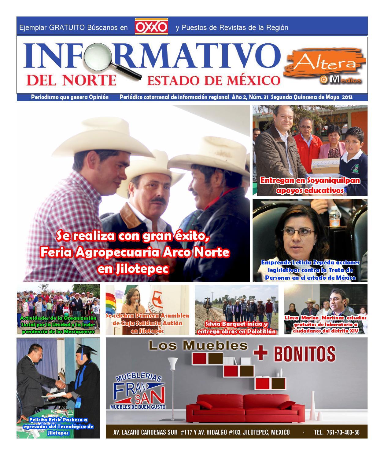 Informativo Del Norte Estado De M Xico Numero 31 By Altera Medios  # Muebles Jilotepec