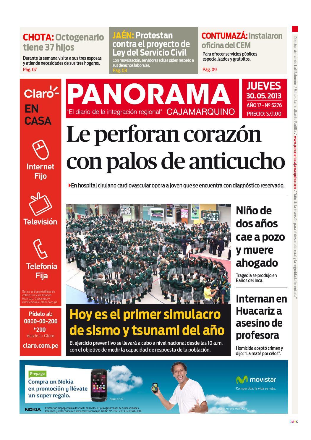 Diario 30 05 2013 by Panorama Cajamarquino - issuu