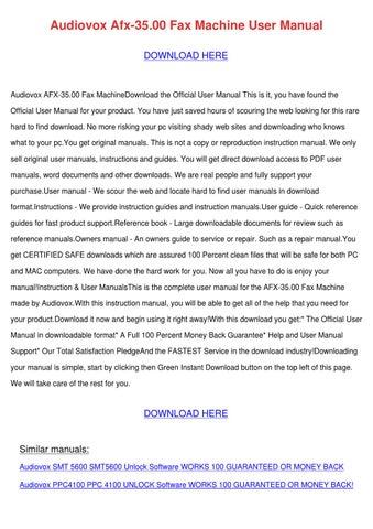 audiovox afx 3500 fax machine user manual by vallie wakley issuu rh issuu com Verizon Pocket WiFi Review HP Pavilion XV6700