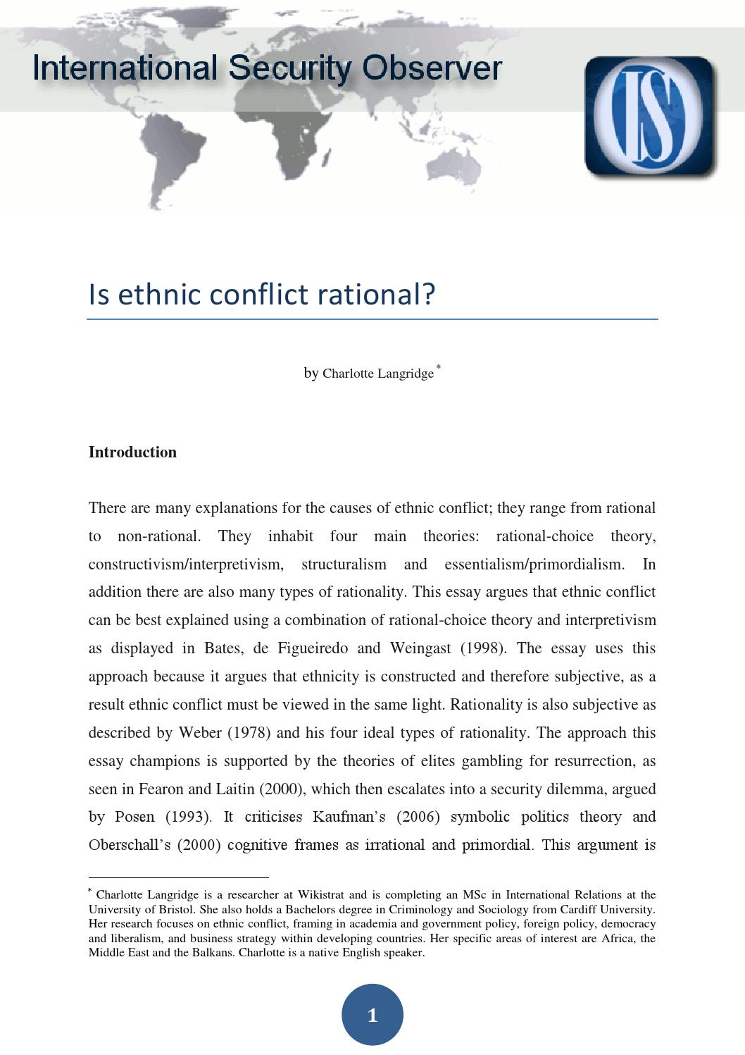is ethnic conflict rational langridge is ethnic conflict ration 3 years ago isobserver