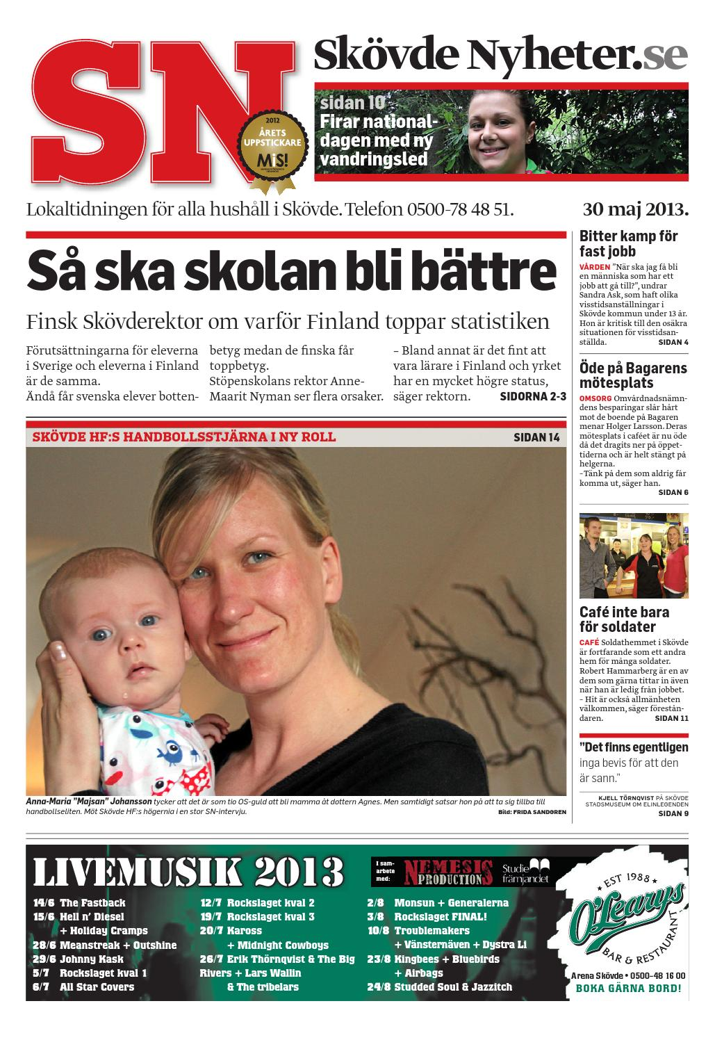 Sn 130530 by Skövde Nyheter - issuu 578c9d23d410c