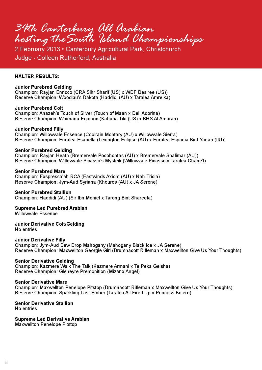 Arabianz May 2013 by NZ Arab Horse Breeders Society - issuu