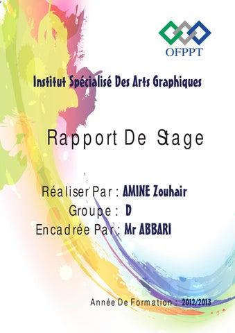 Bien connu Rapport De Stage : 1er Année ISAG by ZØùhàîîr Āmîîne - issuu BS01