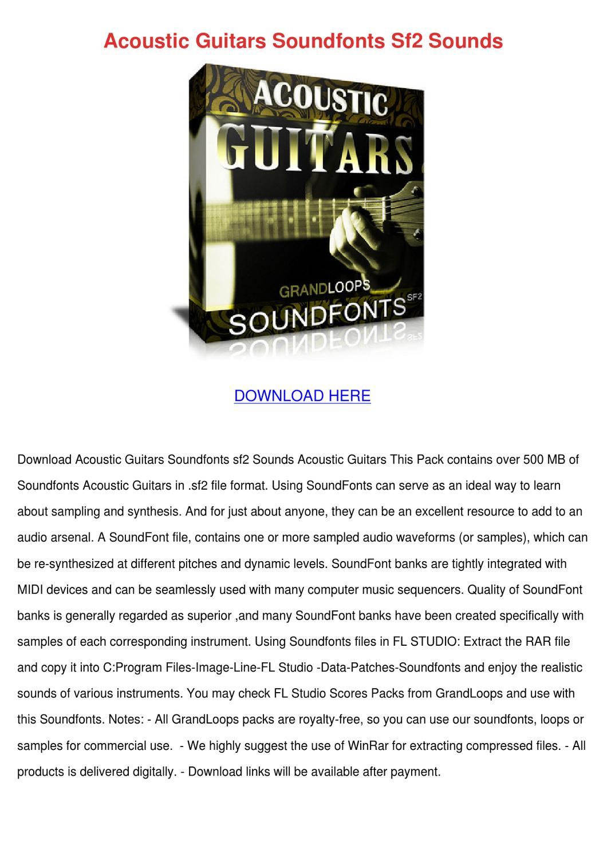 acoustic guitars soundfonts sf2 sounds by leisa tontarski issuu. Black Bedroom Furniture Sets. Home Design Ideas