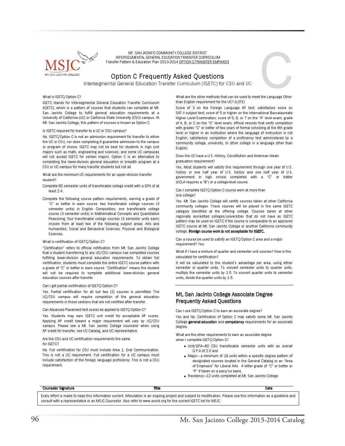 2013 14 Msjc College Catalog By Angela Seavey Issuu