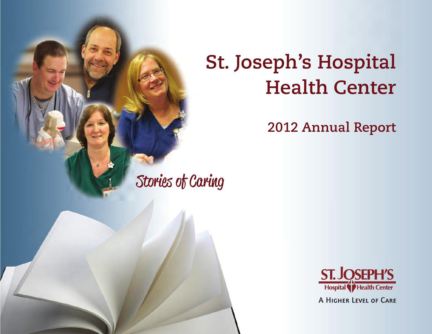 St  Joseph's 2012 Annual Report by St Joseph's Hospital