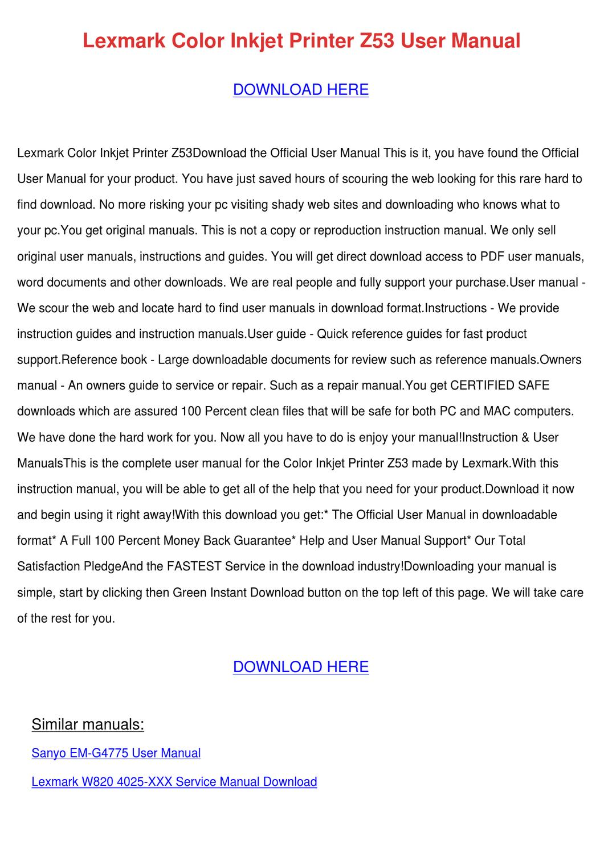 lexmark w820 4025 xxx service manual download