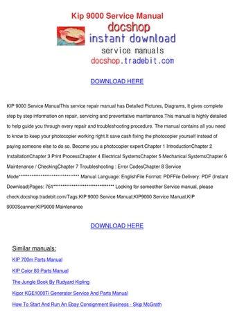 kipor kge1000ti generator service and parts manual