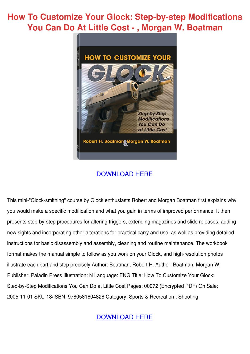 How To Customize Your Glock Step By Modi Raymond Mcguinness Wiring Diagram Workbook Pdf Using The Lexus Electrical Issuu
