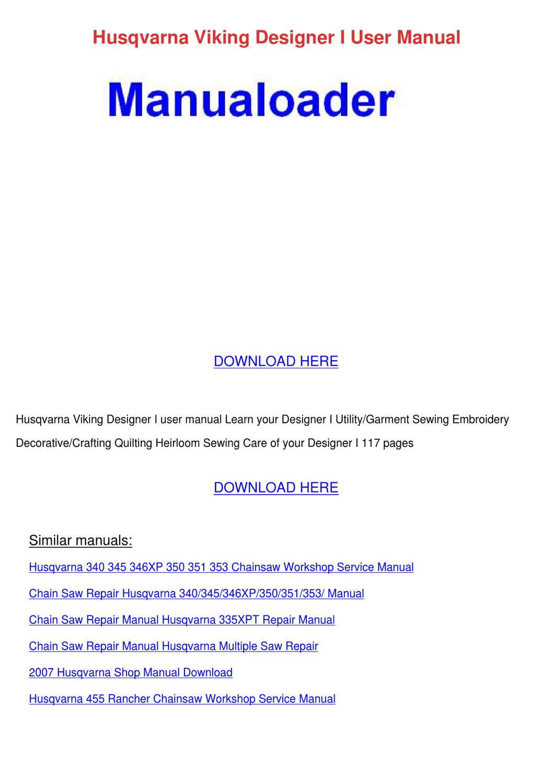 husqvarna chainsaw 55 rancher manual