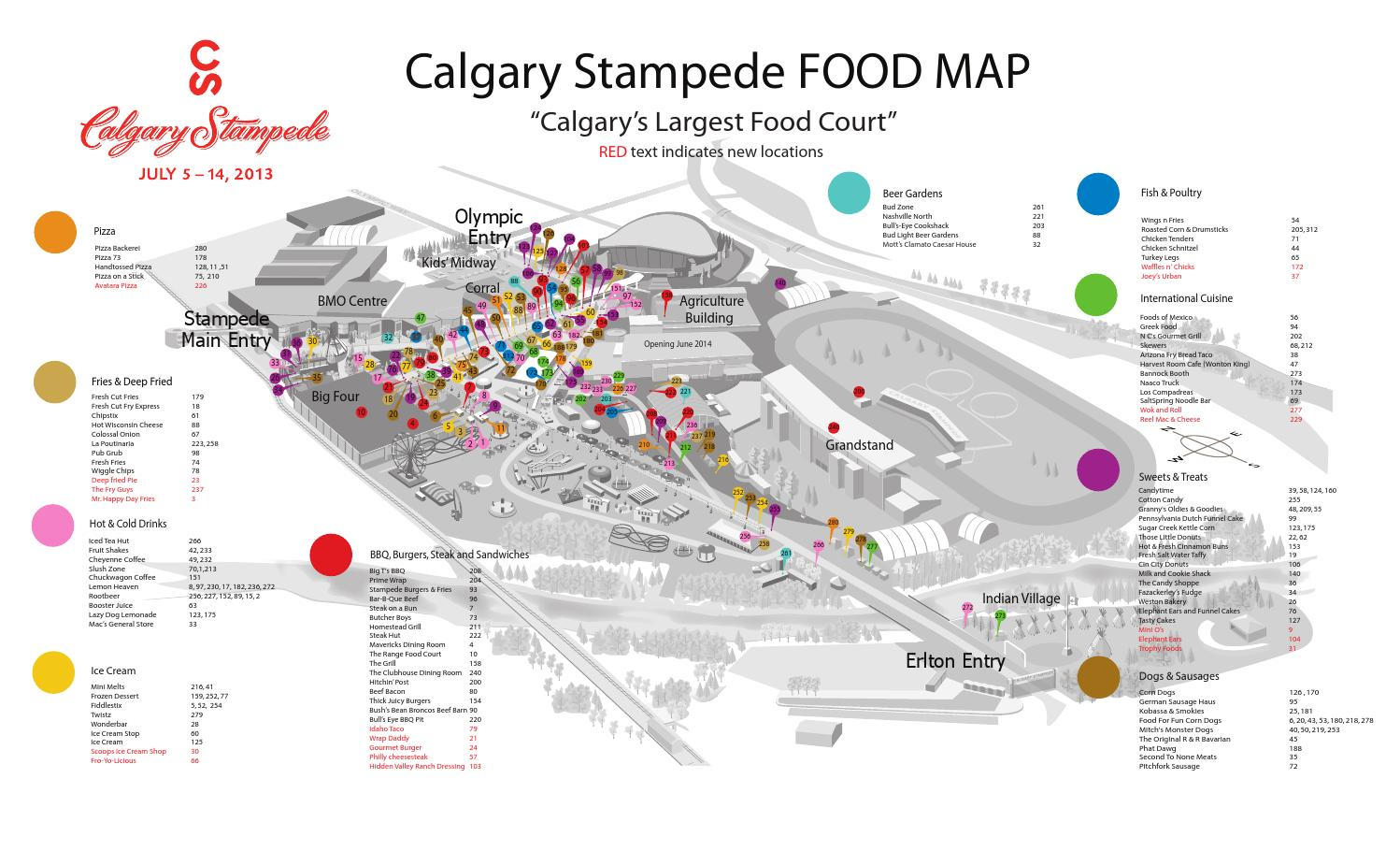 Calgary Stampede 2013 Food Map By Nonfiction Studios Issuu