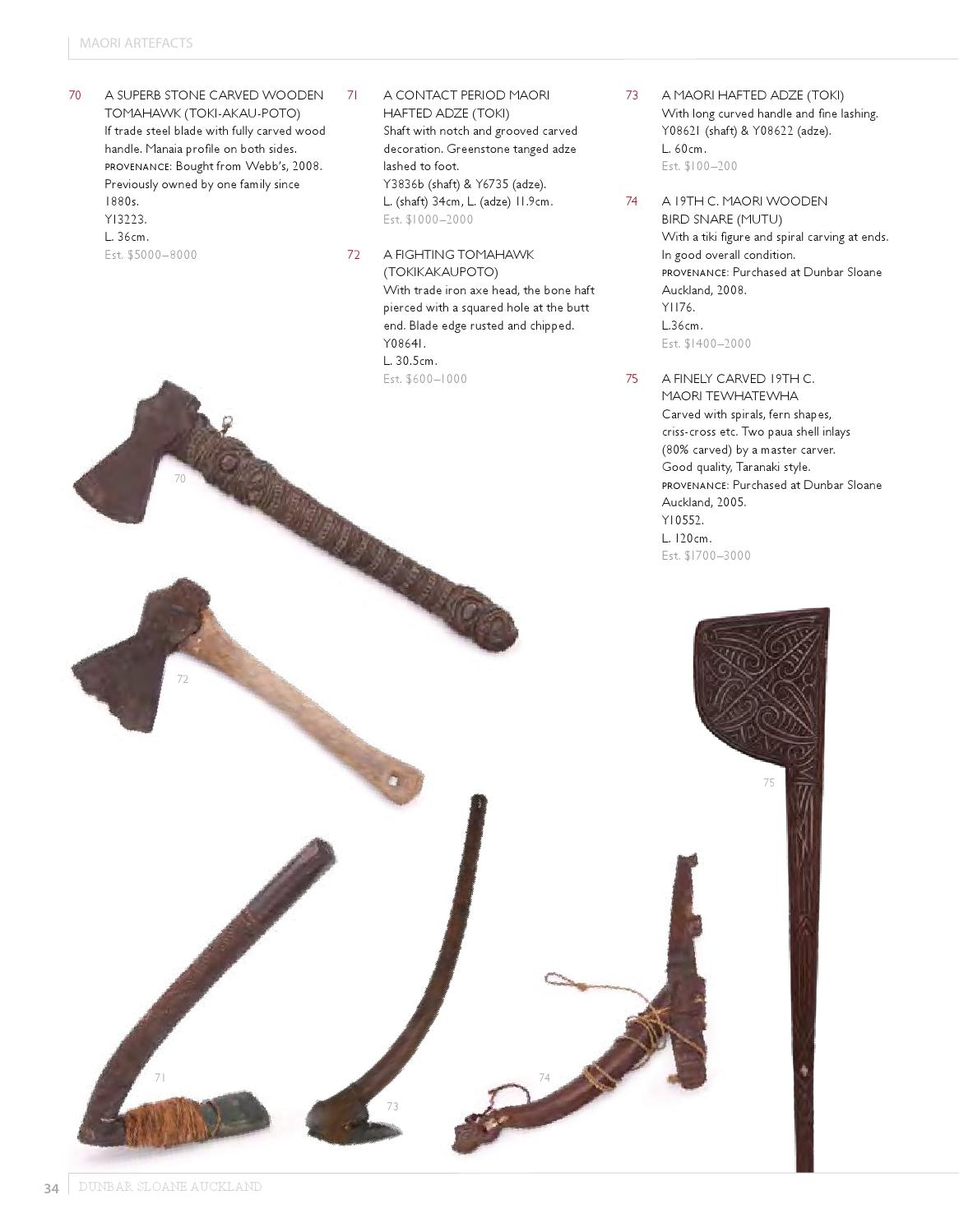 Dunbar Sloane Auckland Artefacts Catalogue By Dunbar Sloane Ltd Issuu