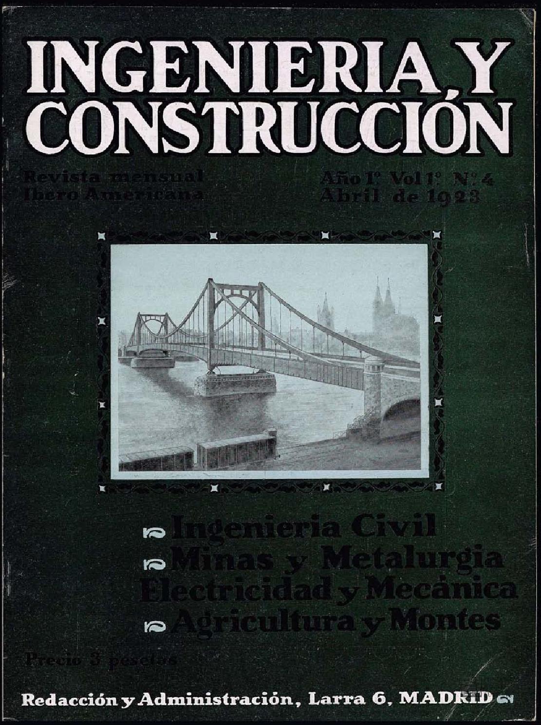 Revista Ingeniería y construcción - 1923 - Abril by FUNDACIÓN ...