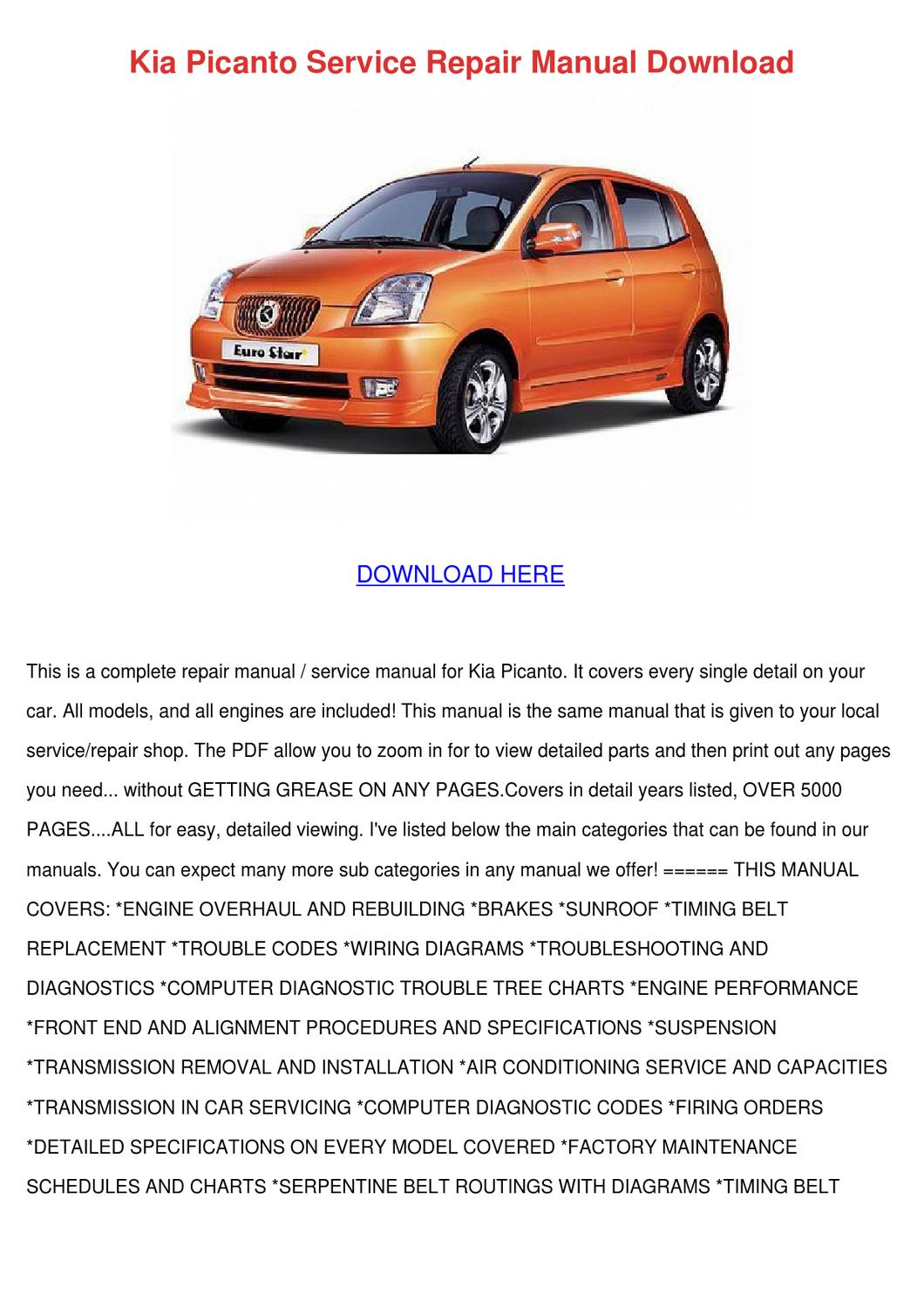 page_1 kia picanto service repair manual download by shonta wede issuu kia picanto wiring diagram pdf at suagrazia.org