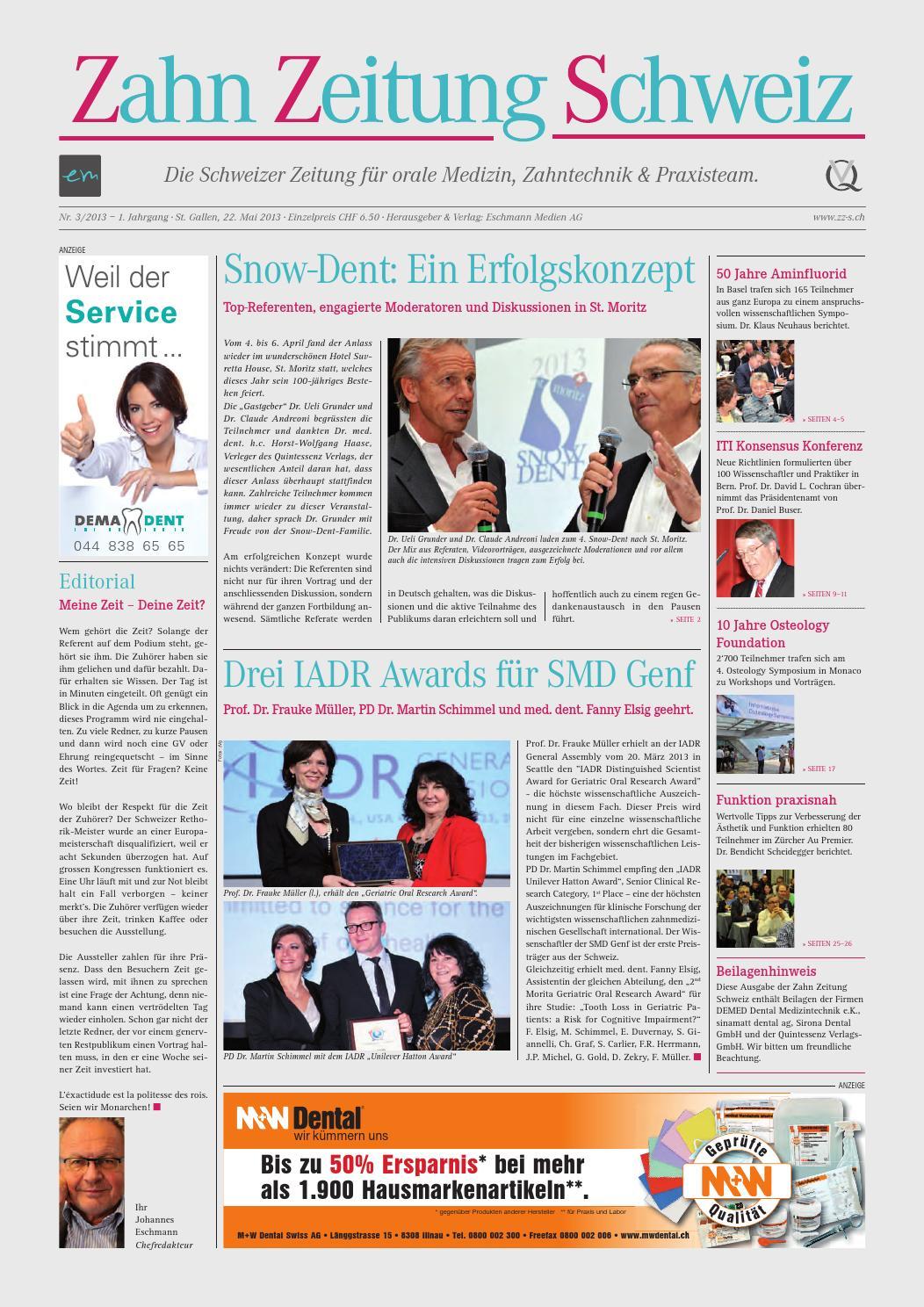 Zahn Zeitung Schweiz | Ausgabe 3 | Jahrgang 2013 by pixelversteher ...