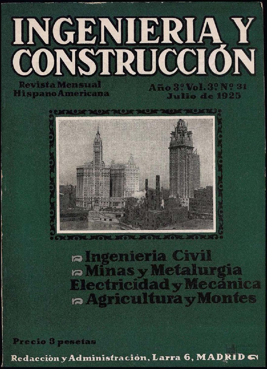 Revista Ingeniería y construcción: Julio 1925 by FUNDACIÓN JUANELO ...