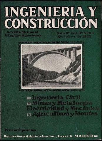 Revista Ingeniería y construcción - Octubre 1925 by FUNDACIÓN ... 3f74604c49d