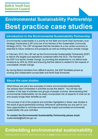 environmental sustainability partnership