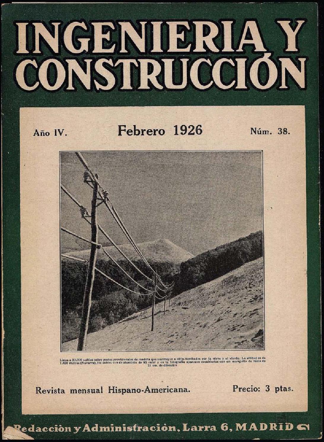 Revista Ingenería y construcción : Febrero 1926 by FUNDACIÓN JUANELO ...