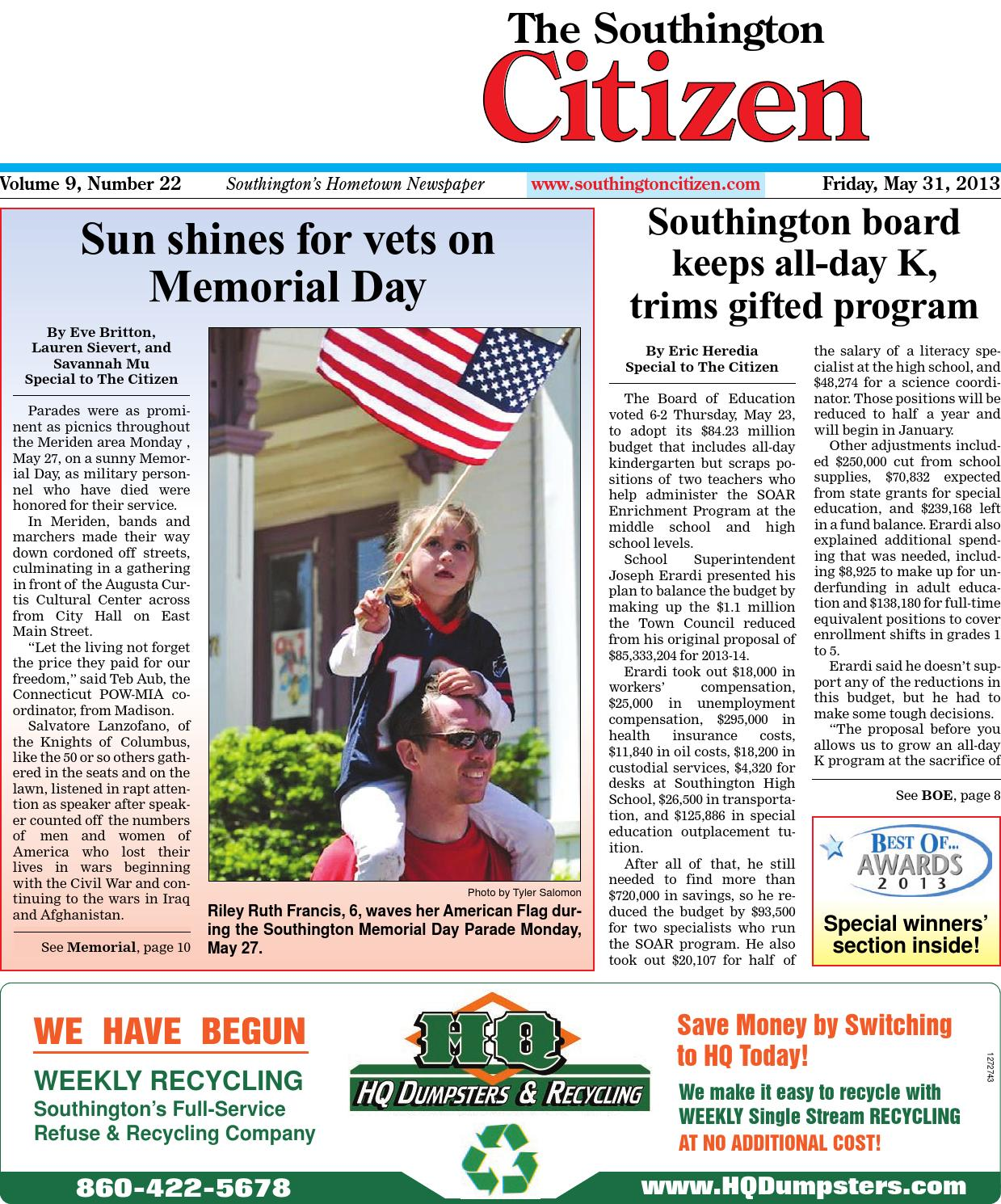 05 31 2013 the southington citizen by dan champagne issuu