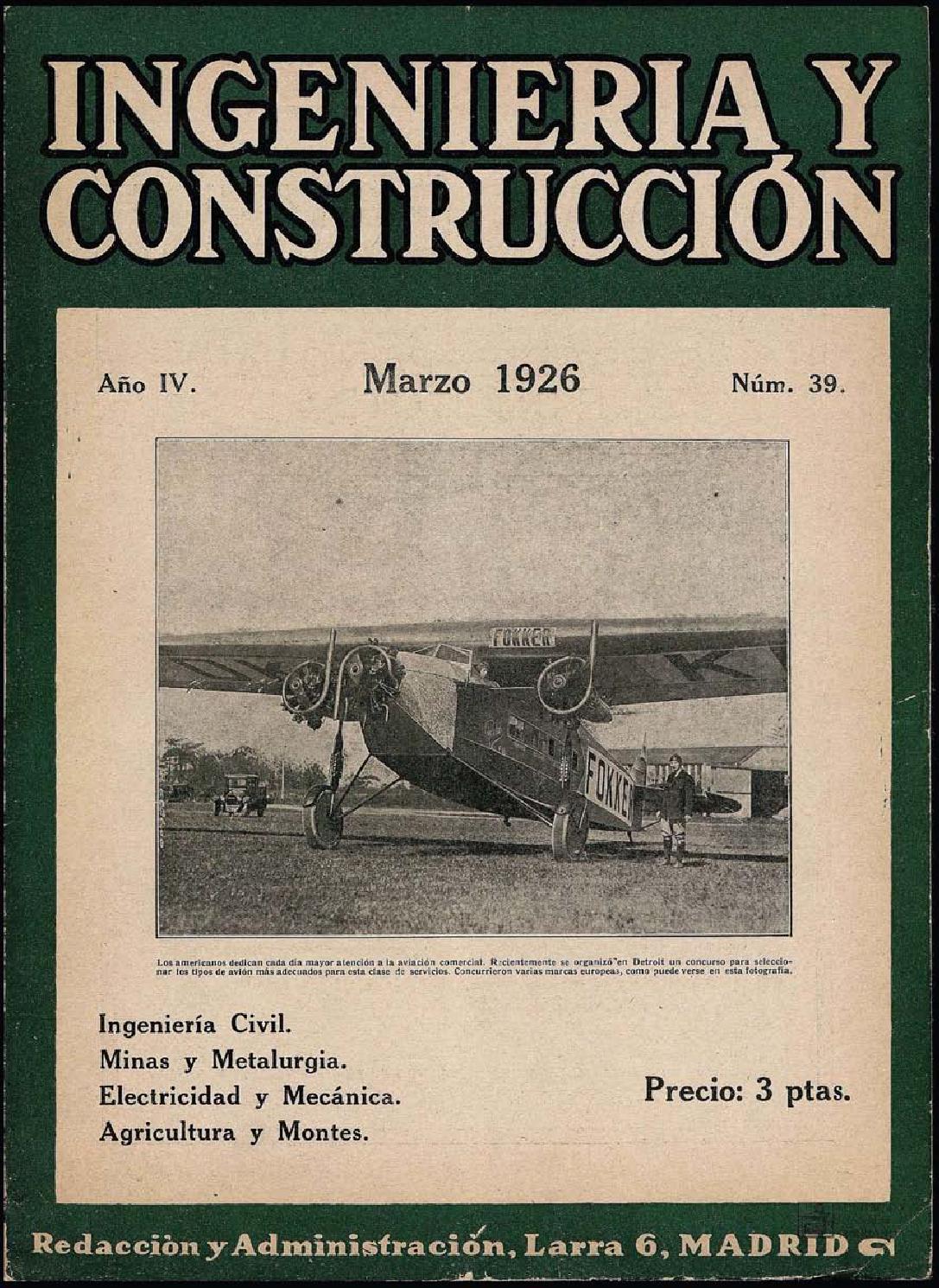 Revista Ingeniería y construcción - Marzo 1926 by FUNDACIÓN JUANELO ...