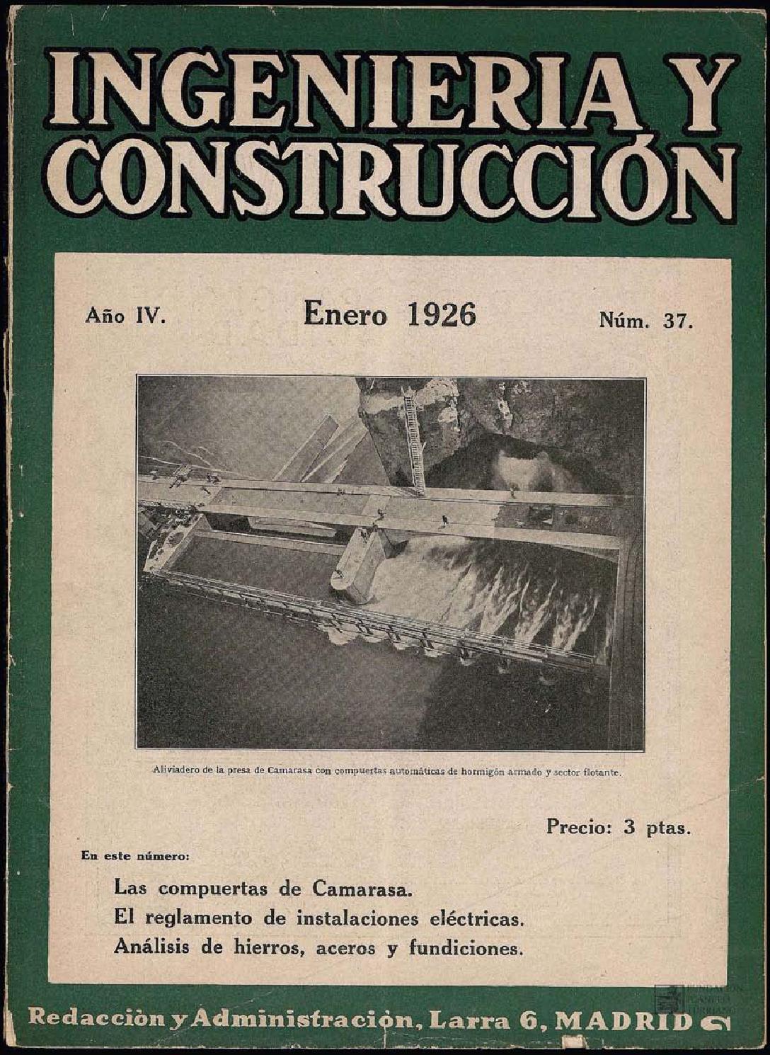 Revista Ingeniería y construcción - Enero 1926 by FUNDACIÓN JUANELO ...