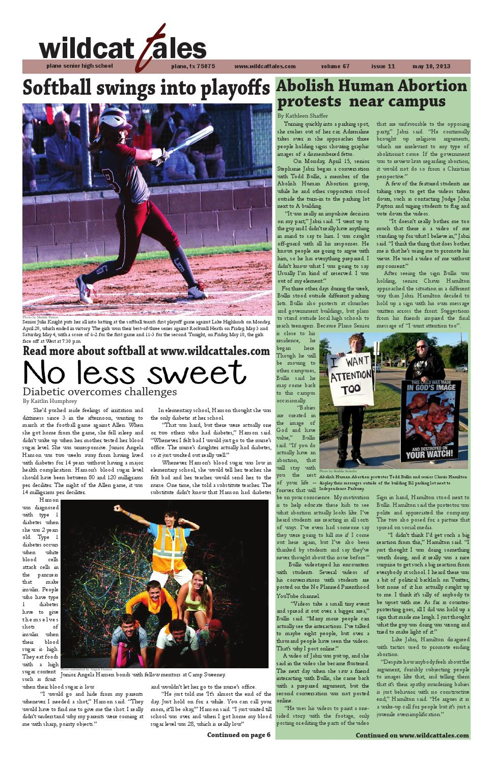 Wildcat Tales Issue 11 May 10, 2013 by Plano Senior High