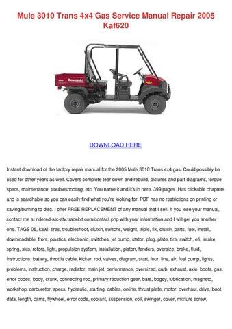 download now kaf950 kaf 950 mule 3010 diesel service repair workshop manual instant download