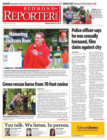 Redmond Reporter, May 31, 2013 by Sound Publishing - issuu