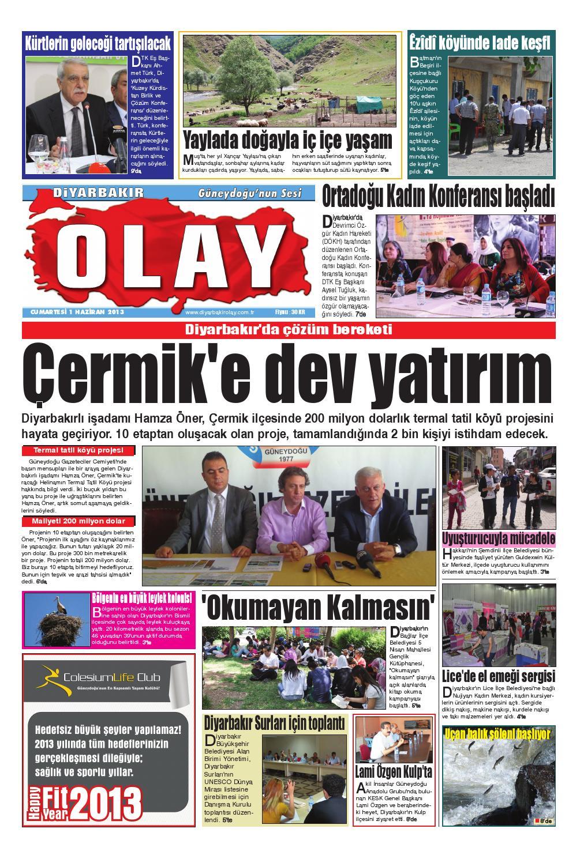 01 06 2013 Gazete Sayfalari By Diyarbakir Olaygazetesi Issuu