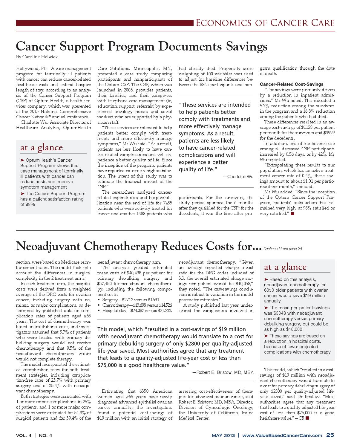 Vbcc May 2013 Vol 4 No 4 By Value Based Cancer Care Issuu