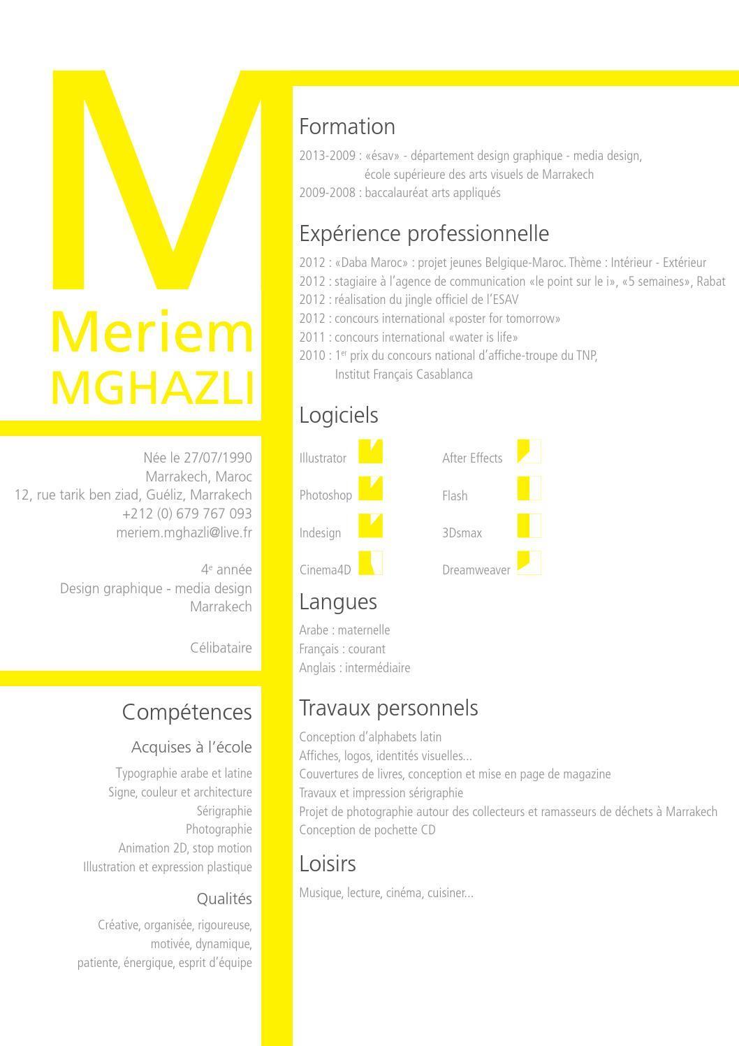 meriem mghazli cv 2012 by meriem mghazli