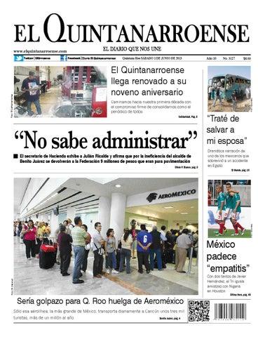 e6ab5b48d2 Edicion digital 01 06 13 by Diario El Quintanarroense - issuu